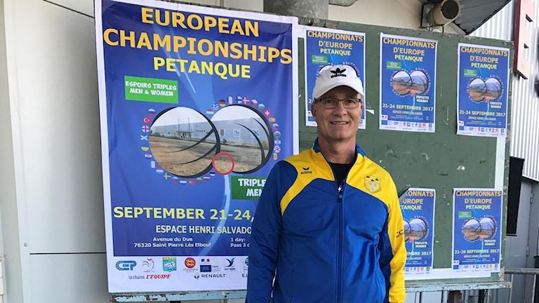 Thomas Wiede är en av de svenska deltagarna i boule-EM.