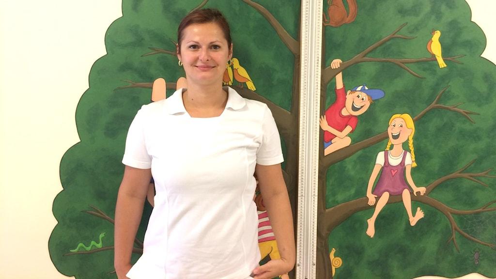 BVC-sjuksköterskan Emmy Gajnok.