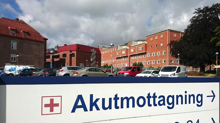Akutmottagningen Halmstad sjukhus.