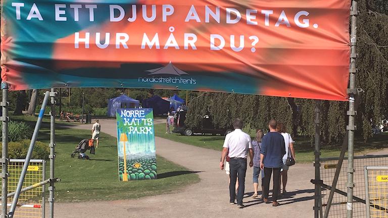 Festivalområde i Halmstad.