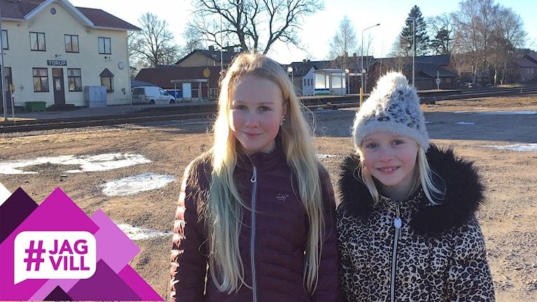 Syskonen Matilda och Nellie Gustavsson.