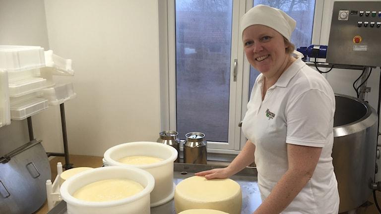 Linda Pilcher är ägare, kemiingenjör och ostmakare.