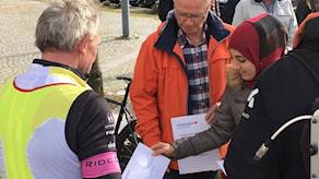 Många mötte upp i Hylte för att skänka pengar.