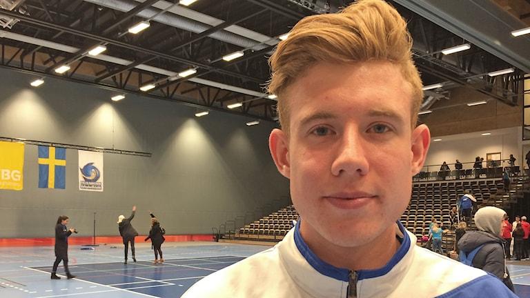 Johan Gruvaeus, volleybollspelare i Falkenberg. Foto: Patric Ljunggren/Sveriges Radio.