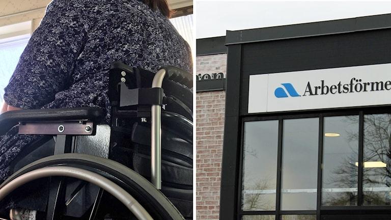 Ryggen på en kvinna i rullstol. Foto: Sveriges Radio