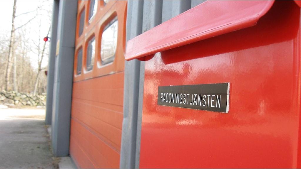 Räddningstjänsten i Simlångsdalen är decimerad. Foto: Johan Davidsson/SR Halland
