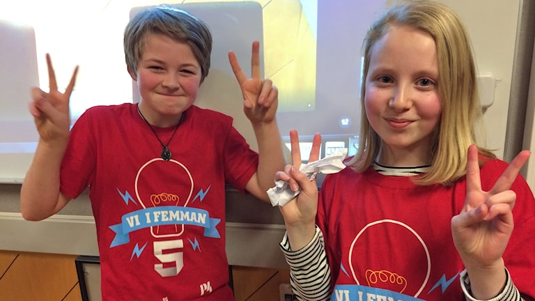 Jutarumsskolans Emma och David är klara för final!