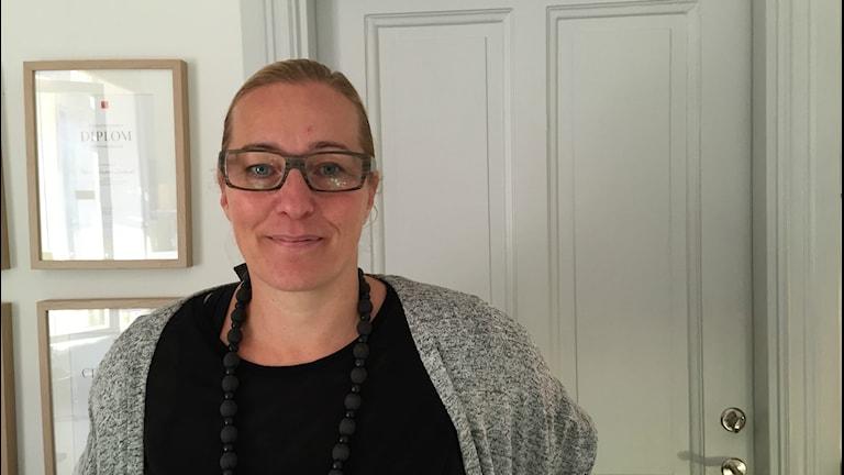 Petra Palmgren Lindwall, mamma till nioårige Max med sjukdomen Duchennes muskeldystrofi. Foto: Sveriges Radio