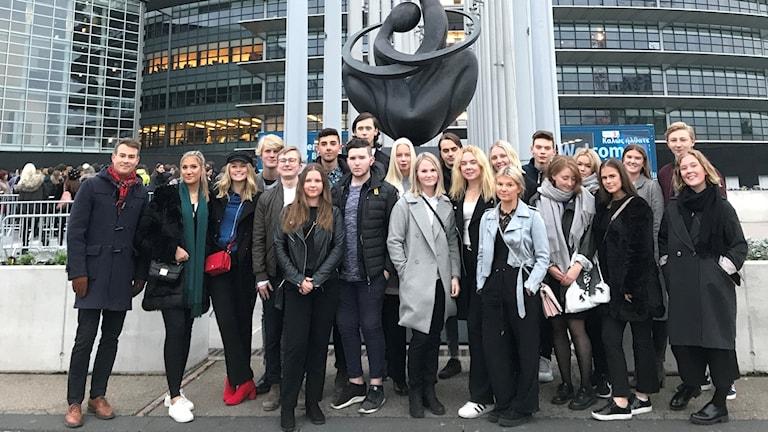 Elever från Peder Skrivares skola i Strasbourg
