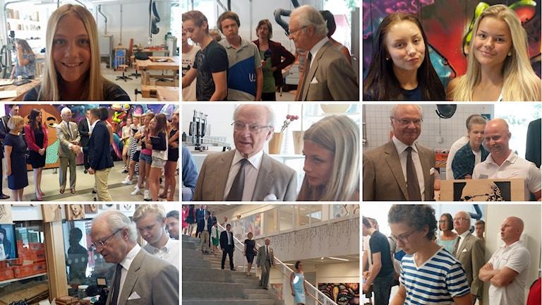 Kungen besöker Söndrumskolan, Sturegymnasiet och högskolan i Halmstad.