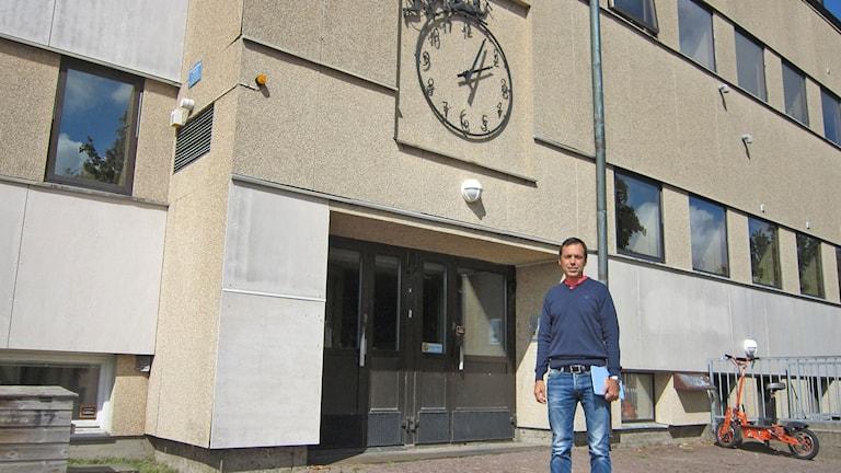 Rektor Wahlfridsson på Hagaskolan. Foto: Göran Frost/Sveriges Radio