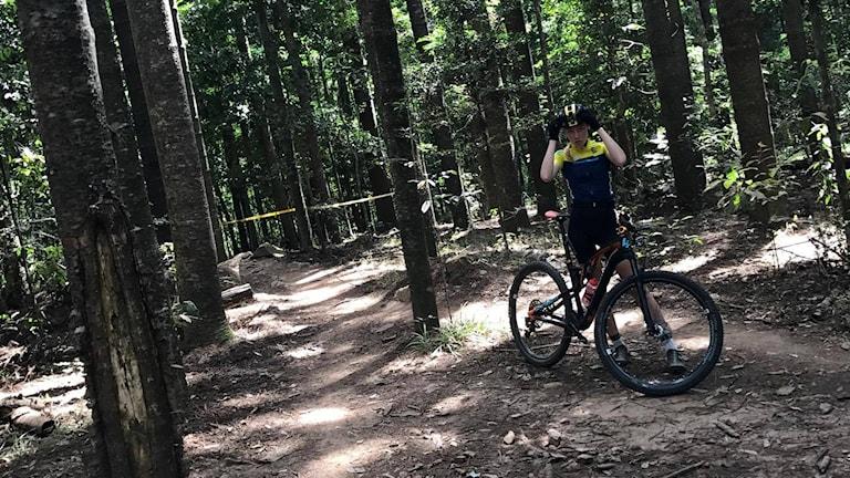 Saga Molin tävlar i VM i mountainbike på torsdag.