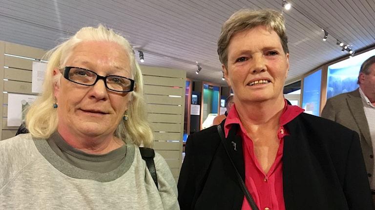 Lena Palm och Gudrun Andersson