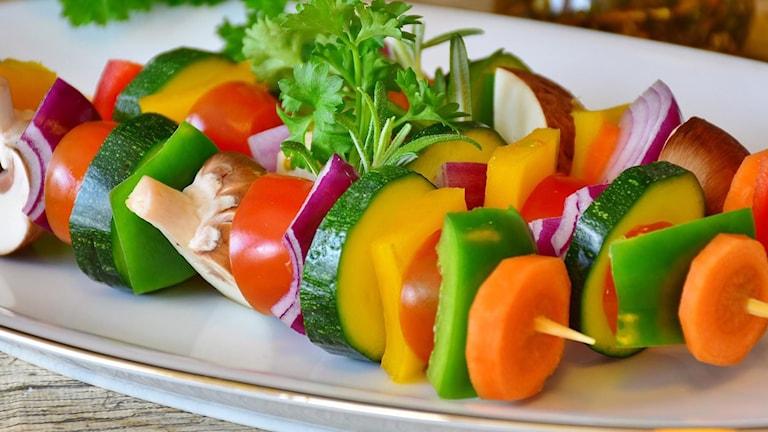 Bilden visar grönsaksspett