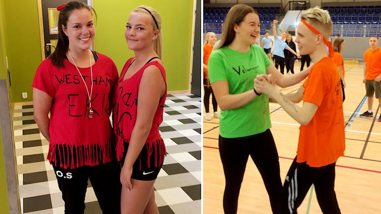 Olivia Söderström och Antonia Nyberg, Julia Kling och Kevin Sving, Osbecksgymnasiet Laholm