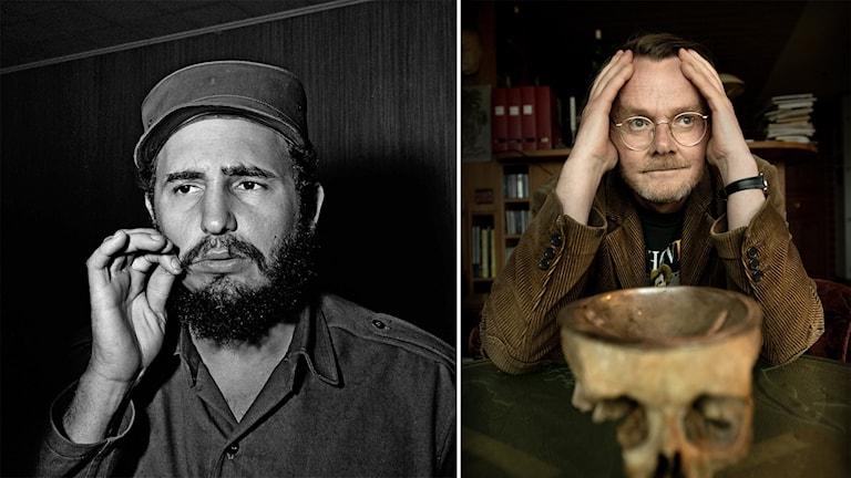 Fidel Castro och Lasse Diding. Foto: AP/TT och Dan Hansson/TT.