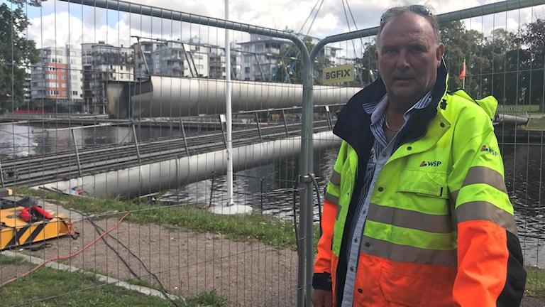 Ulf Fräneland som är biträdande projektledare för brobygget.