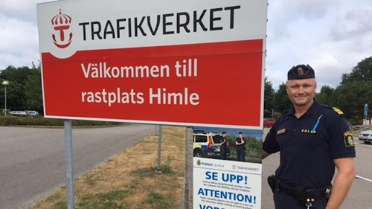 Gustav Zetterberg ställföreträdande chef på Varbergs polisen.