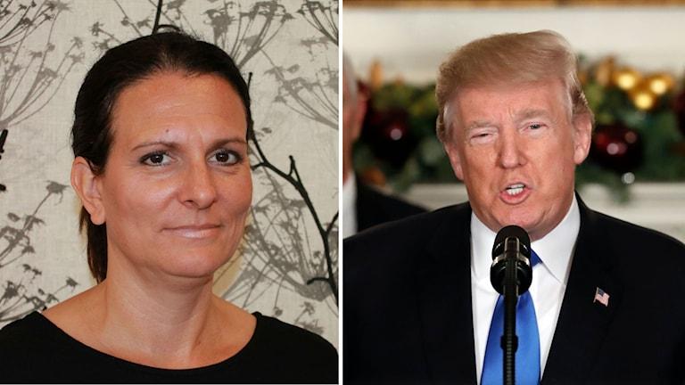 Frida Stranne om Donals Trumps beslut.