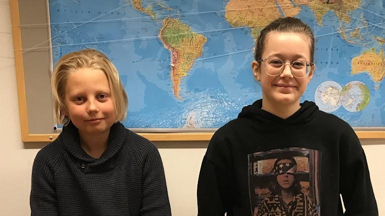 Leo Lindblom och Alba Kleveland från Almers skola.