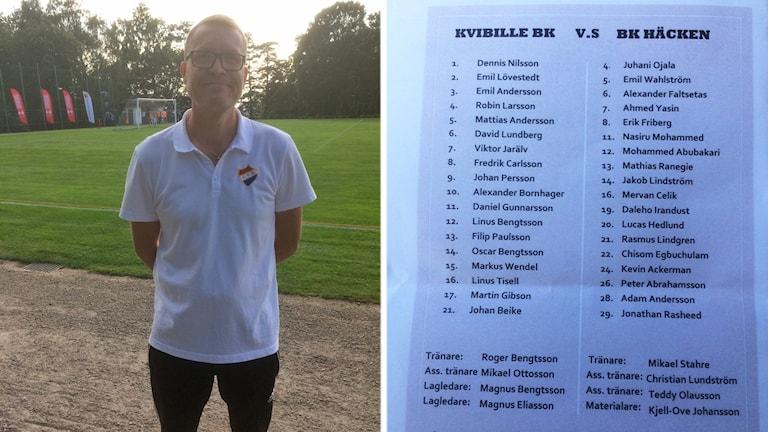 Roger Bengtsson tränar Kvibille BK som möter Häcken i Svenska cupen