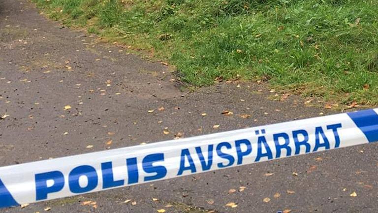 polisavspärrning efter mord i Rydöbruk