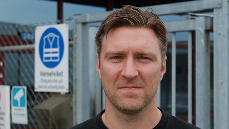 Christoffer Westman, ordförande för Livsmedelsklubben på Carlsberg i Falkenberg.