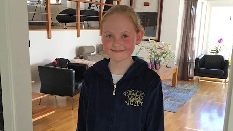 Selma Isaksson vill ha en konstgräsplan på sin skola i Onsala.