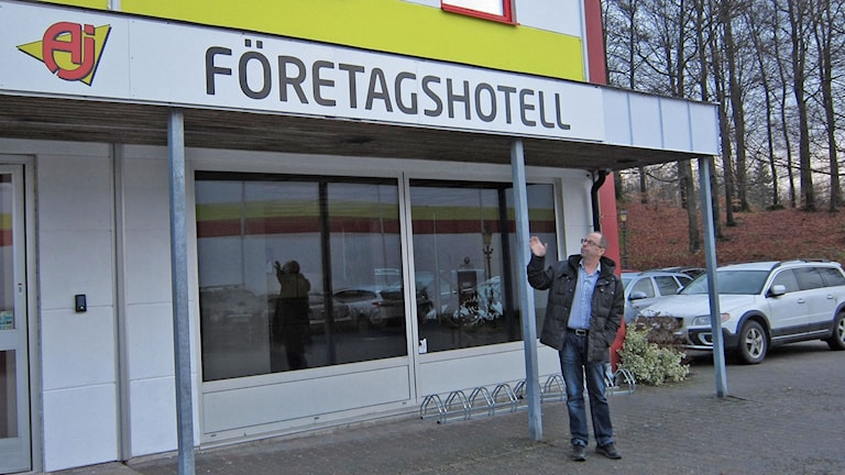 Loggan ska ändras: Hylte företagshotell ska det numer heta. Foto: Göran Frost/Sveriges Radio