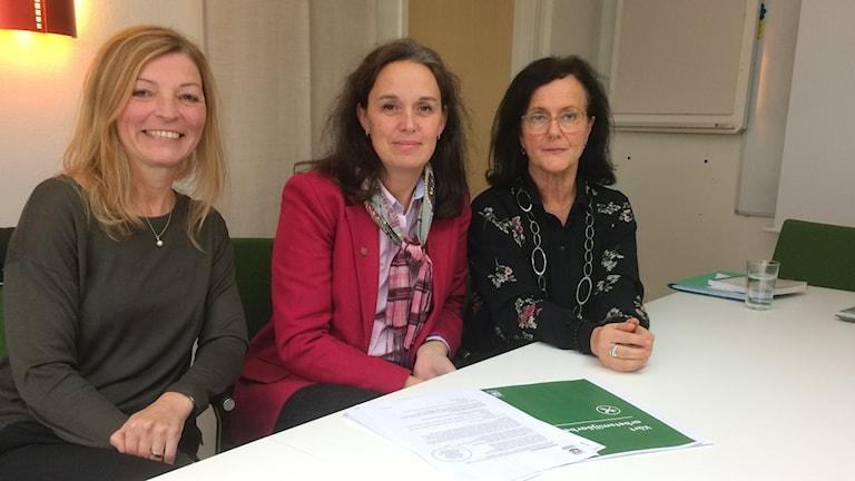 Från Vänster: Susanna Klang, Kristina Taremark och Charlotte Gottfridsson