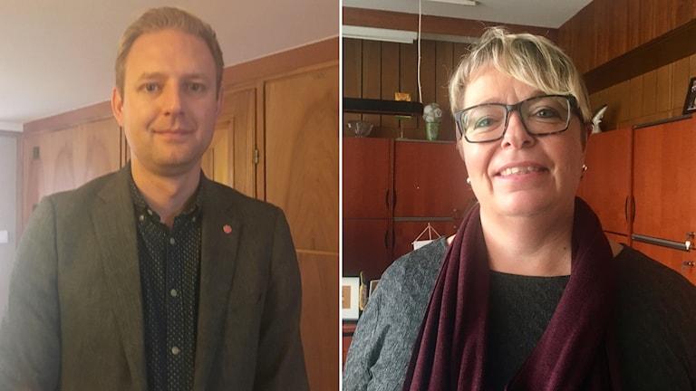 Kommunråden i Falkenberg, Per Svensson och Mari-Louise Wernersson