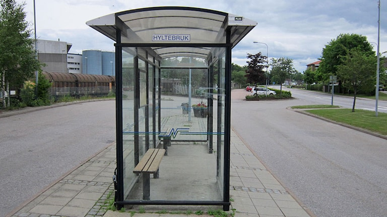 Busskurer i Hyltebruk. Foto: Göran Frost/Sveriges Radio.