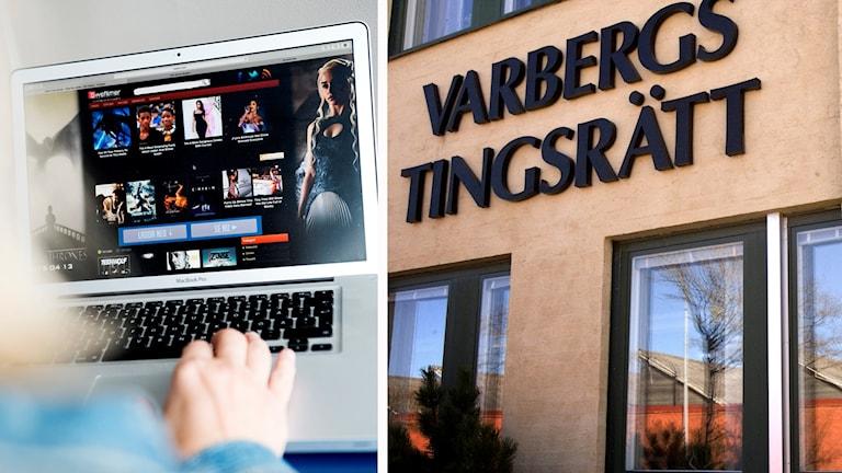 Rättegången om Swefilmer i Varbergs tingsrätt.