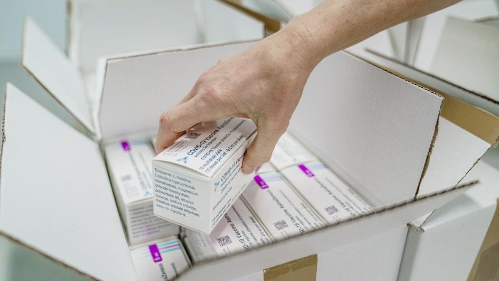 Förpackning med vaccin.