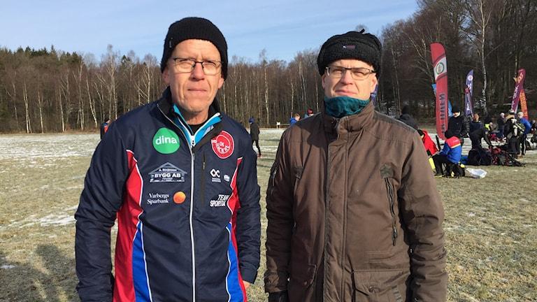 Björn Nilsson, tävlingsledare för Nackheträffen och ordförande i OK Nackhe Anders Larsson är glada över att de lyckades få ihop ett