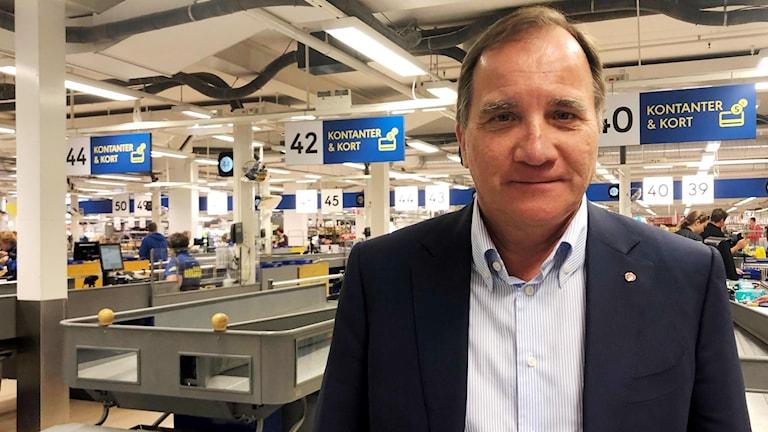 Stefan Löfven på Gekås i Ullared