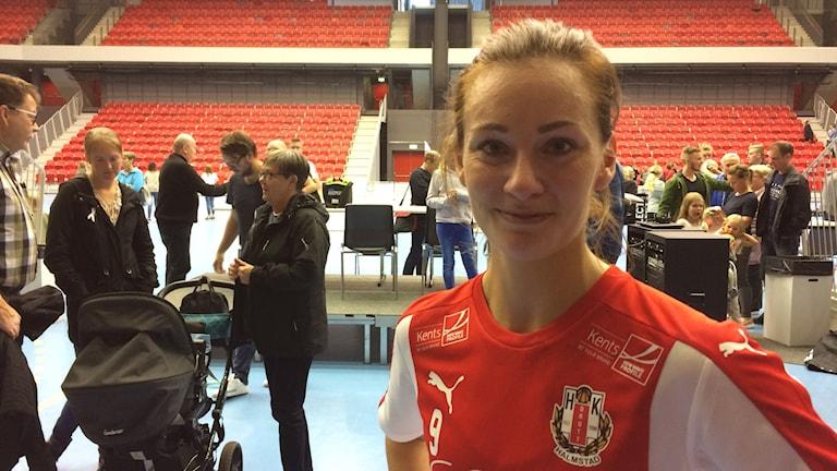 Johanna Birkkjaer-Andersson i HK Drott. Foto: Patric Ljunggren/ Sveriges Radio
