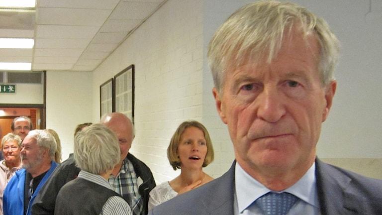 Carl Bennet talade för Getinges möjligheter. Foto: Sveriges Radio