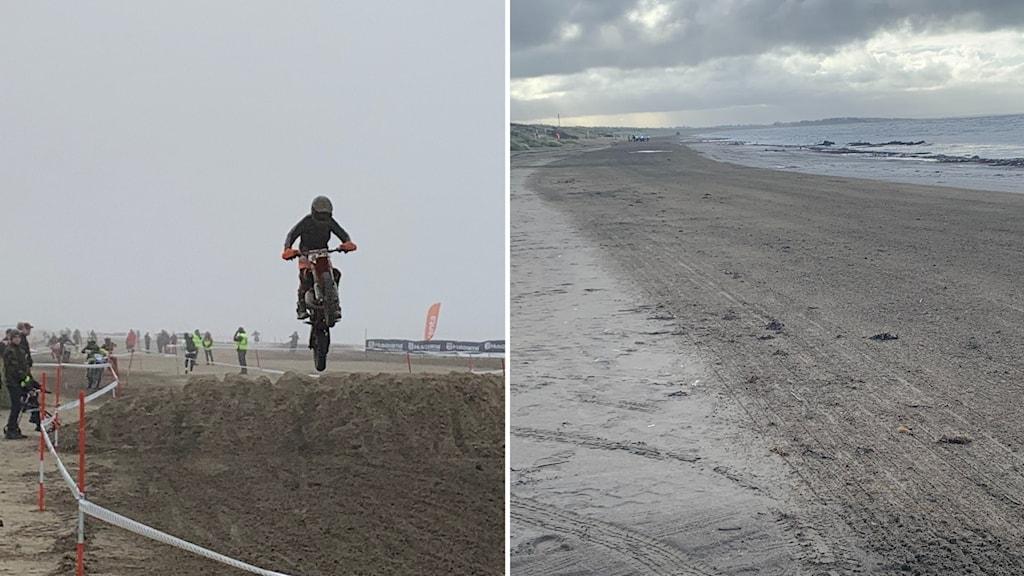 Under och efter endurotävlingen på Östra stranden.