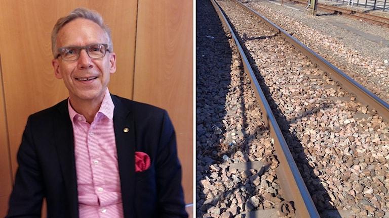 Dag Hultefors, järnväg