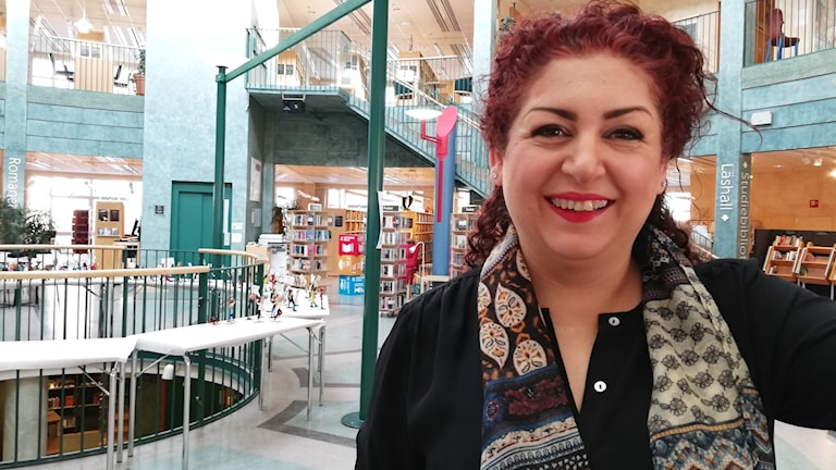 Susanne Pour, chef för biblioteket Fyren.