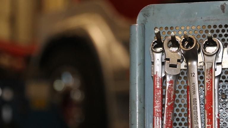fasta nycklar i verkstad