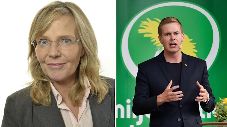 Agneta Börjesson (MP) och Gustav Fridolin (MP).