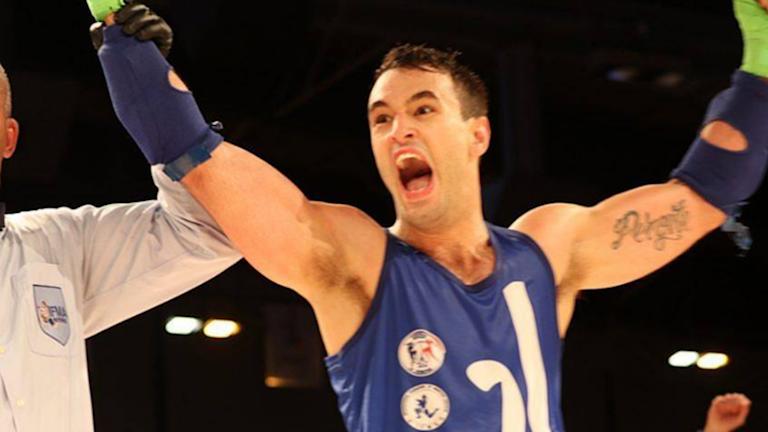 Andreas Gardasevic från Halmstad Europamästare i thaiboxning.