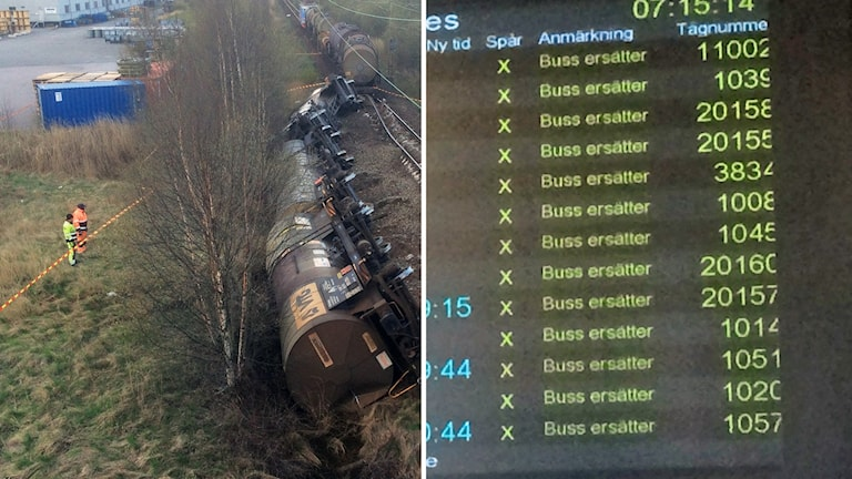 Bussar ersätter efter tågurspårningen.