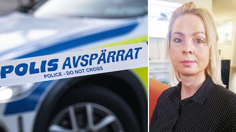 Polisavspärrning/Porträttbild Anna Göransson
