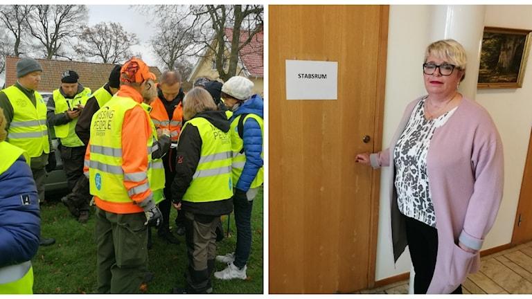 Missing Peoples sökinsats efter Dante och Mari-Louise Wernersson, kommunstyrelsens ordförande i Falkenberg.