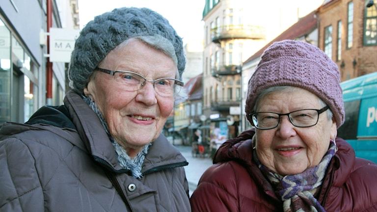 Maj-Britt Svensson och Irma Westerberg.