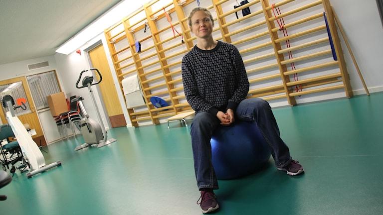 Annelie Davidsson jobbar med mötesplatsen Medaljongen.