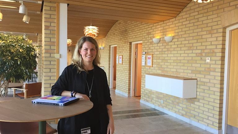 Ida Josephsson i Region Hallands korridor.